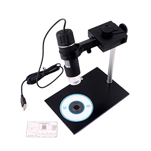300X Usb Lcd Digital Microscope 2.0Mp 8-Led Endoscope Electronic Magnifer Camera Cam