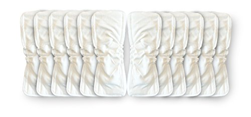 Naturally Natures Soft Baby 5 Layer Bamboo Inserts with Gussetts Reusable Liners for Cloth Diapers (Pack of 12)
