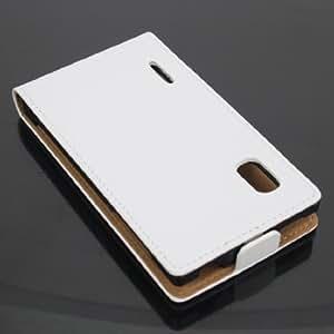 ECENCE 31020304 LG Optimus L5 handy tasche flip case klapp schutz hülle cover weiss inklusive Displayschutzfolie