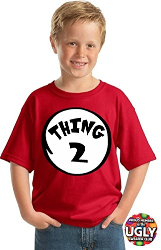 icustomworld Youth Thing 1 and Thing 2 shirts (S, Thing 2)