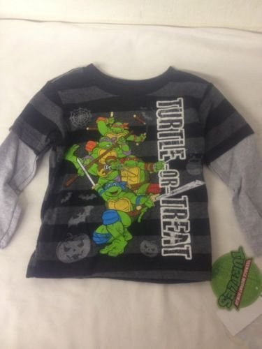 [Teenage Mutant Ninja Turtles Halloween Boys T-Shirt Turtle Trick Or Treat 4T] (Nickelodeon Teenage Mutant Ninja Turtles Treat Bags)