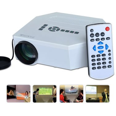 vBera LED Projector ,HdmiLed Projecdtor Home Cinema Theater Supporting AV, VGA ,USB SD Car
