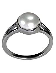 Pearl Paradise Astrological Pearl Ring In 925 Silver.