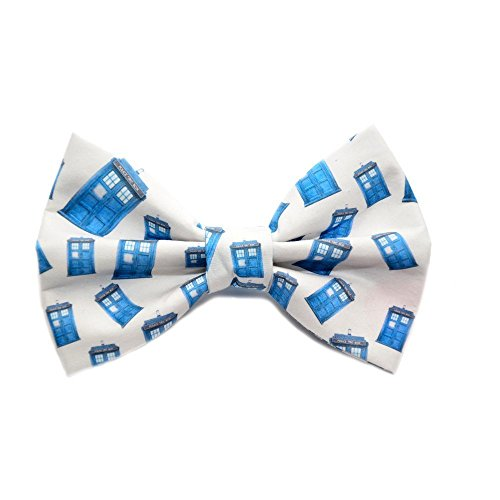 Dr Who Bow Tie with adjustable strap Tardis Fandom Bow Ties Are Cool Doctor Who tardis men's bowties boys bowties sizes (Quirky Ties compare prices)