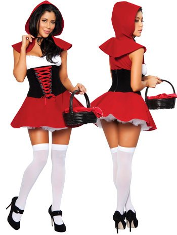 Red Hot Riding Hood Costume - Medium - Dress Size 6
