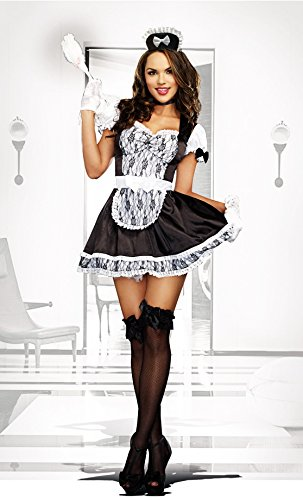 Full Figure French Maid Plus Size Halloween Costume