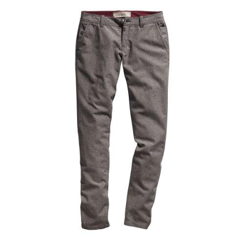 Timezone - Pantaloni chino, donna, Beige (Beige (beige faux-uni 8060)), 40/42 IT (27W/32L)