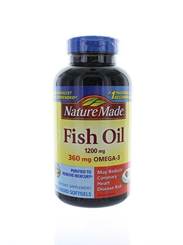 Nature Made Fish Oil Omega-3 1200mg, 200 Softgels