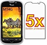 5x HTC T-Mobile myTouch 4G HD Premium Clear LCD Screen Protector Cover Guard Film, no cutting is required! Exact fit and satisfaction guaranteed!
