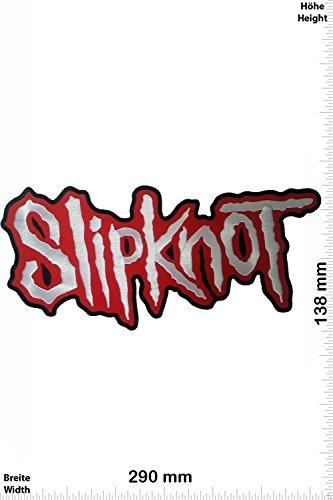 Patch - Slipknot - 29 cm - BIG - BIGPATCH - Rocker - Biker - Chaleco - toppa - applicazione - Ricamato termo-adesivo - Give Away