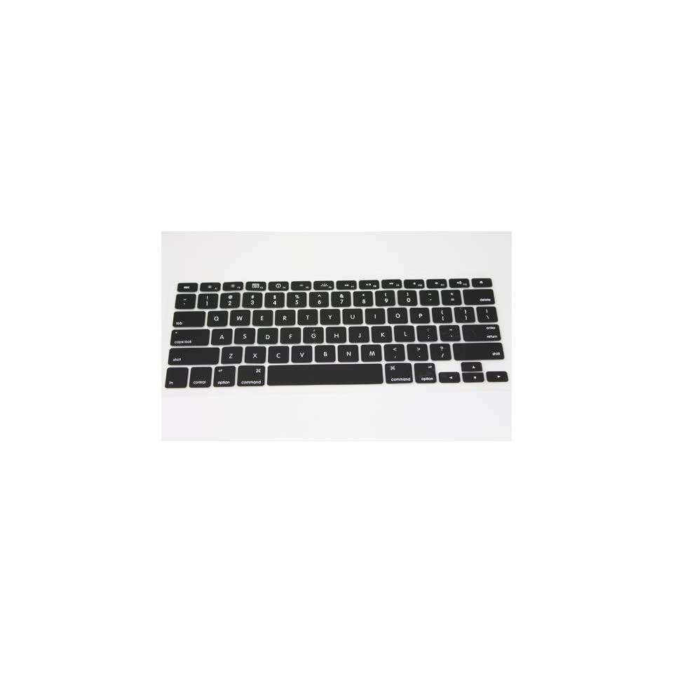 Black Silicone Keyboard Cover Skin Protect for Apple Macbook Laptop 133