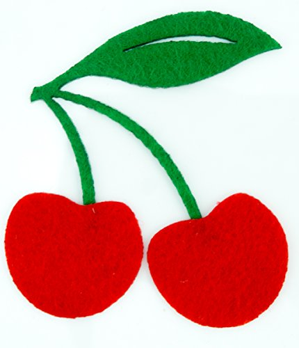 Cherry Diy Applique Embroidered Sew Iron On Patch