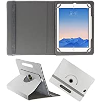 Acm Rotating 360° Leather Flip Case For Apple Ipad Air 2 Tablet Cover Stand White