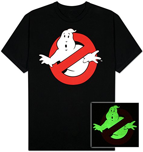 Official Ghostbusters Glow in the Dark T-shirt for Adults. Many sizes.