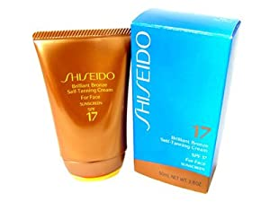 Shiseido Brilliant Bronze Self Tanning Cream Spf 17 1.8 Oz