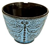 Japanese Cast Iron Tea Cup - Dragonfly LB