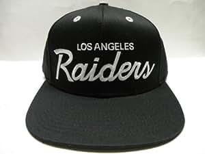 NFL Los Angeles Raiders Black Retro Snapback Cap Gray Button