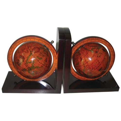Kassel 4-3/8 IN (110mm) Diameter Globe Bookends