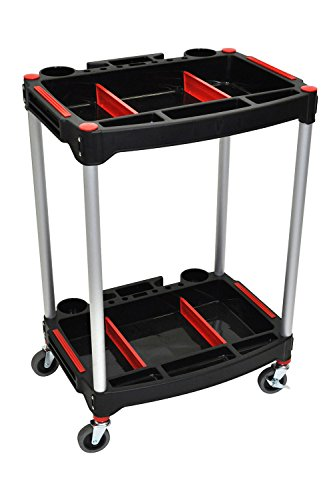 "Luxor 2 Shelf Mechanics Cart with 4"" Casters"
