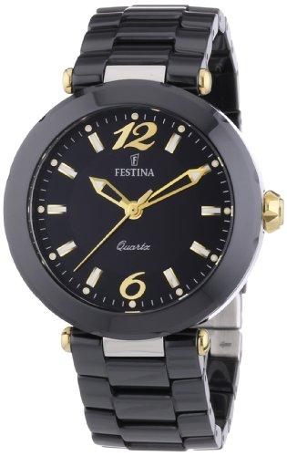 FESTINA F16640/4 - Reloj analógico de cuarzo para mujer con correa de cerámica, color negro