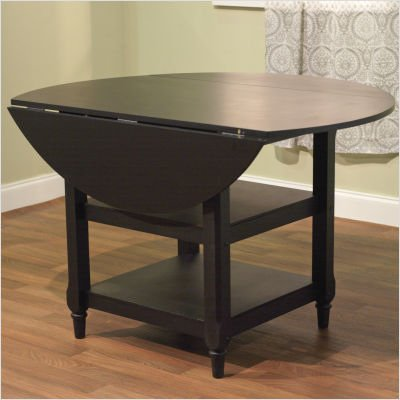 Buy Low Price TMS Cottage Drop Leaf Dining Table in Black (60147BLK)
