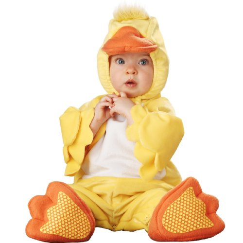 Lil Characters Infant Duck Costume YellowOrangeWhite 12-18 Months