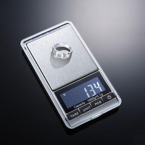 TOOGOO(R) 0.1g-1000g Balance numerique de LCD Argent