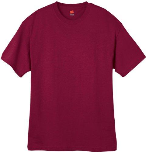 Men'S 5.2 Oz Hanes Heavyweight Short Sleeve T-Shirt , White, Large front-221246