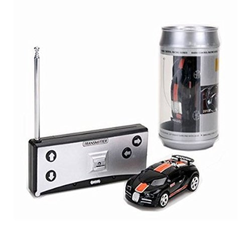 Coke Can Mini RC Radio Remote Control Micro Racing Car 4 Frequencies (Back&Orange) by Youngstore