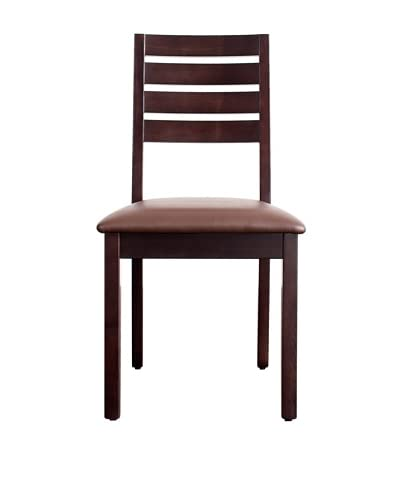 Urban Spaces Hudson Side Chair, Dark Walnut