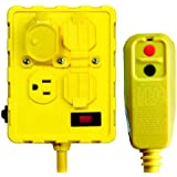 Tower Manufacturing 30334052 15 amp Auto Reset GFCI Protected Quad Outlet Box With Circuit Breaker
