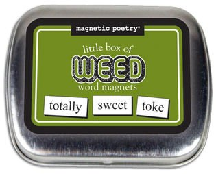 Magnetic Poetry - Little Box of Weed - Words for Refrigerator - Write Poems and Letters on the Fridge - 1