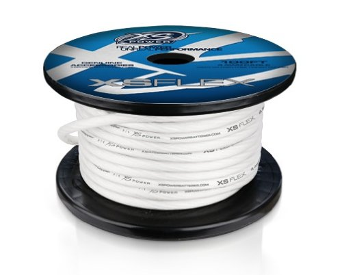 XS Power XSFLEX4CL-100 XP/XS Flex Iced Clear 100' Spool High Current Battery Cable