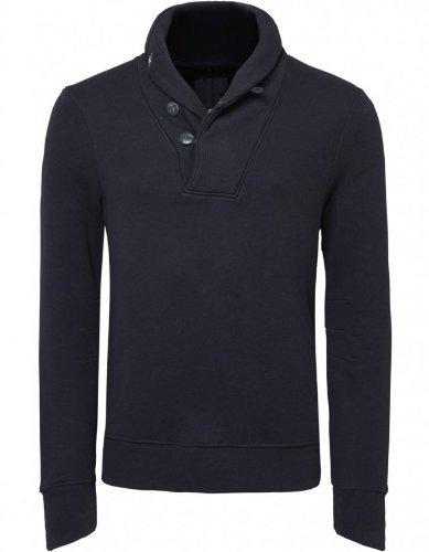 Denham Men's Sweater Black Marlon Sweatshirt XXL
