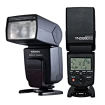 YONGNUO YN568 EX II TTL Flash Speedlite with High Speed Sync for Canon 1Dx, 1Ds series, 1D series, 5DIII, 5DII, 5D, 7D, 60D, 50D, 40D, 30D, 20D, 650D/T4i, 600D/T3i, 550D/T2i, 500D/T1i, 450D/Xsi, 400D/Xti, 350D, 1100D, 1000D