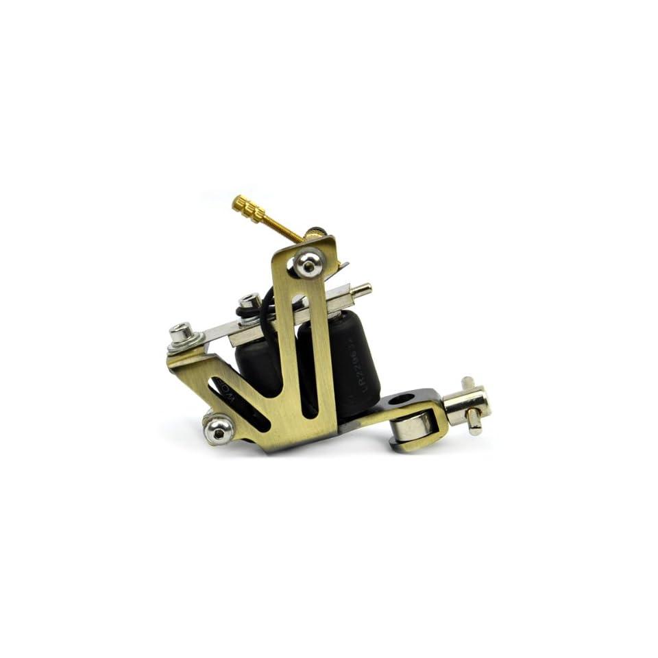 coiled Tattoo Machine Liner Shader   Brass