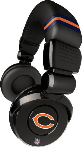 iHip Official NFL - CHICAGO BEARS - Noise Isolation Pro DJ Quality Headphone