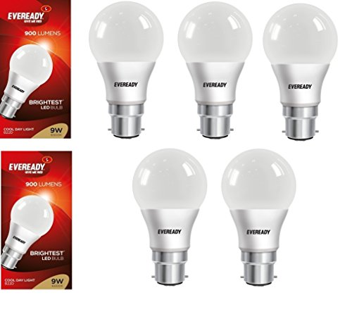 Eveready-9W-Cool-Day-Light-900-Lumens-LED-Bulb-(Pack-of-5)