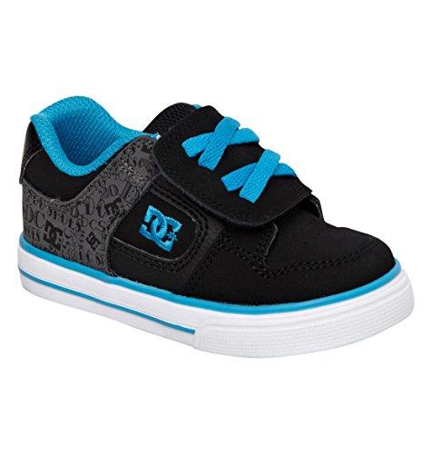 Dc Pure V Skate Shoe (Toddler),Black/Blue Jewel,8 M Us Toddler front-1011962