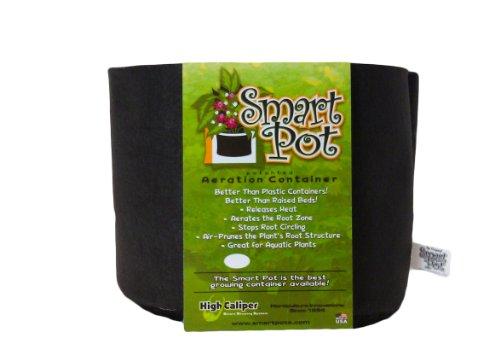 Smart Pots 1-Gallon Smart Pot Soft-Sided Container, Black