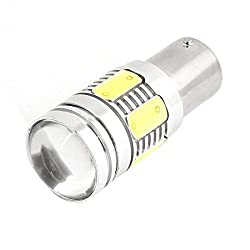 See Water & Wood 12V 1156 White 7 LED Projector Turning Light Bulb 10.5W for Car with Car Cleaning Cloth Details