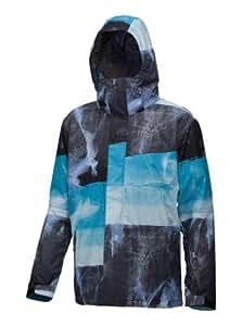 Quiksilver Men's NEXT MISSION PRINTED INS JKT 2-Next Mission Printed INS 2 Snow Jackets - Blue, Larg