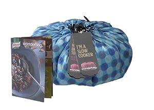 Wonderbag Non-Electric Portable Slow Cooker with Recipe Cookbook, Blue Batik