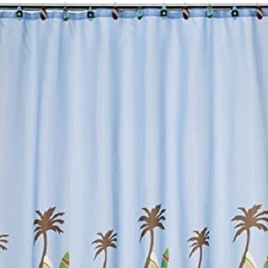 Tiddliwinks Surfs Up Shower Curtain Shower Curtain Palm Trees