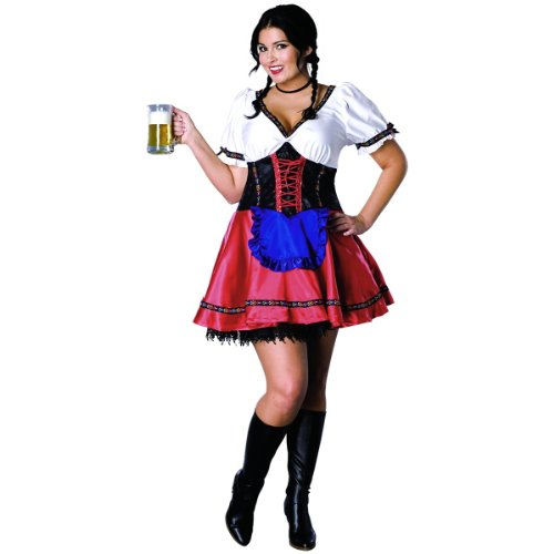 Sexy Adult Halloween Costume Beer Maid Outfit Womens U.S. Plus Size (14-16)