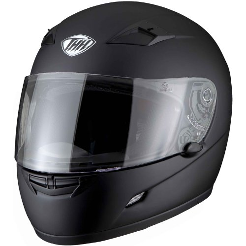THH TS-39 Plain Full Face Motorcycle Helmet L Matt Black (ACU Approved)