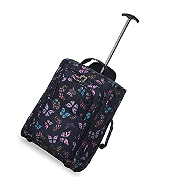 """5 Cities Carry On Wheeled Travel Trolley Bag 21"""" Lightweight Hand Luggage/ On Board Cabin Rolling Luggage Bags 2"""