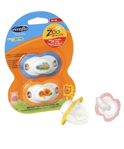 evenflo-zoo-friends-silicone-pacifier-6-months-and-above-2-count