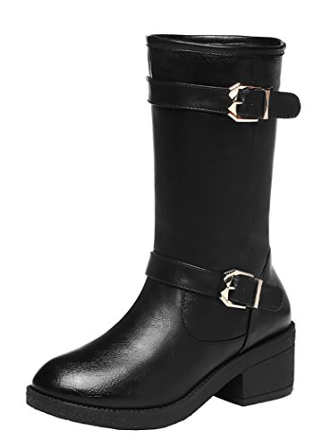 Guciheaven British New Style With Velvet Buckle Martin Boots(8.5 B(M)Us, Black)