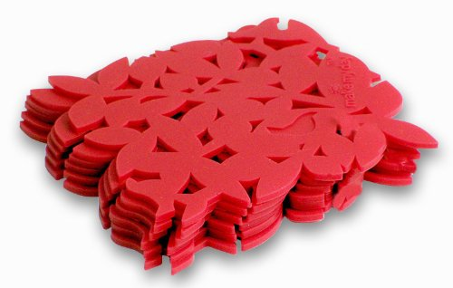 Make My Day Gorgeous Silicone Coasters, Red, Set of 6
